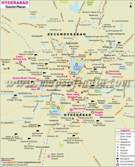 map  hyderabad travelquazcom