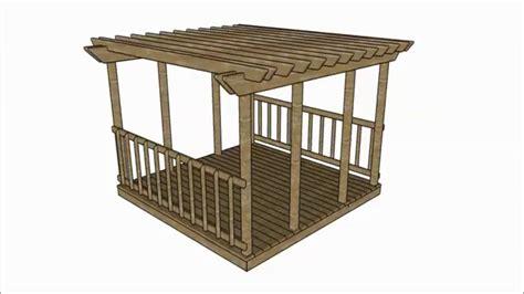 hog wire deck pergola plans
