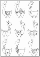 Coloring Llamas Lama Lamas Llama Lots Drawing Alpaka Doodle Malvorlagen Ausmalbilder Colorear Zeichnen Viele Kawaii Malen Colouring Adult Zeichnung Drama sketch template