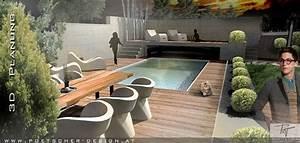 pool gestaltung award winning custom pool with built in With feuerstelle garten mit französischer balkon mit kleinem austritt
