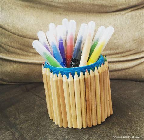 le pot 224 crayons en crayons diy le de maman plume