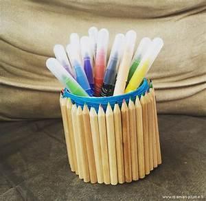 Pot A Crayon : le pot crayons en crayons diy le blog de maman plume ~ Teatrodelosmanantiales.com Idées de Décoration