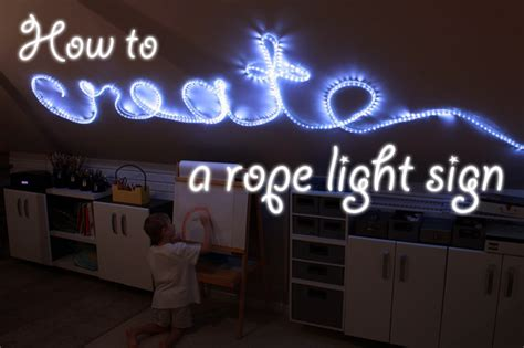 how to create rope light word wall