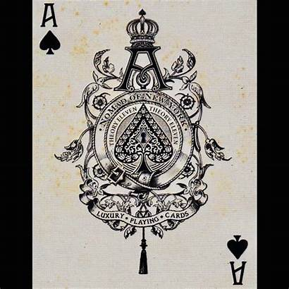Tattoo Ace Spades Card Playing Cards Studio
