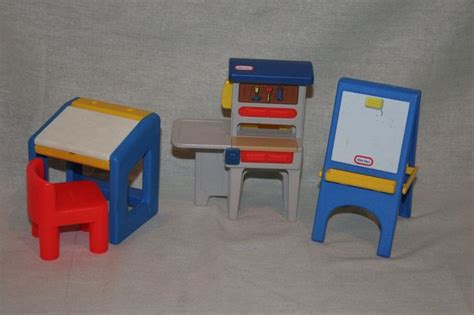 Tikes Desk Easel by Lot Vintage Tikes Dollhouse Furniture Work Bench