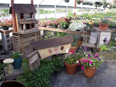 Primitive Display Garden Gate Greenhouse Thyme