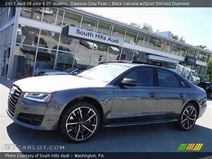 Audi S8 2017 : daytona gray pearl 2017 audi s8 plus 4 0t quattro black valcona w sport stitched diamond ~ Medecine-chirurgie-esthetiques.com Avis de Voitures
