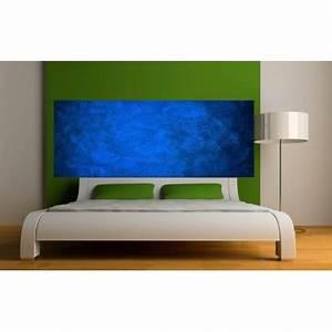 Tete De Lit Bleu : stickers t te de lit couleur bleu fonc art d co stickers ~ Premium-room.com Idées de Décoration