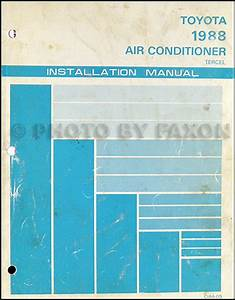 1988 Toyota Tercel Sedan Repair Shop Manual Original