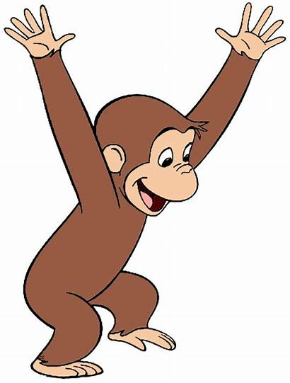 Curious George Clip Cartoon Clipart Waving Hang