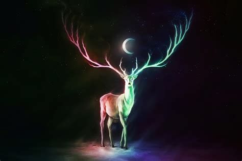fantasy deer  uhd   wallpaper