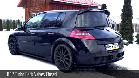 Renault Megane II RS | RCP Turbo-Back Valved Exhaust - YouTube
