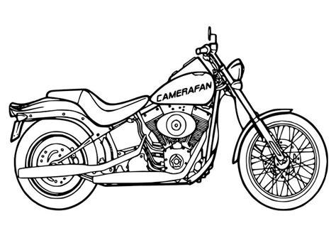 malvorlage motorrad ausmalbild