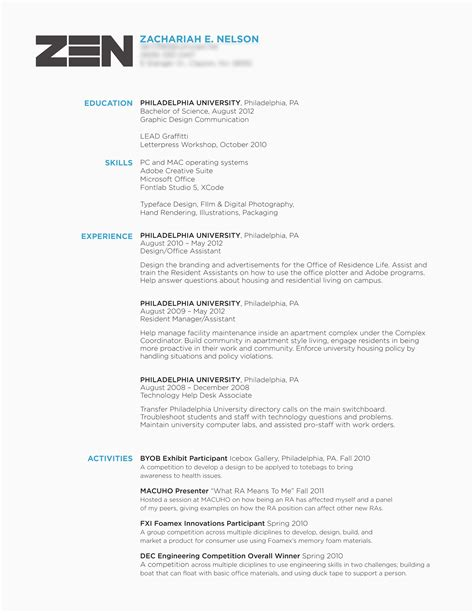 Graphic Designer Cv Exles by Graphic Design Sle Resumes Free Resume Cover Letter Builder