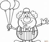 Coloring Clown Balloons Circus Balloon Happy Krusty Printable Funny Clipart Waving Vector Outline Supercoloring Cartoon Illustration Getcolorings Toon 1542 Printables sketch template