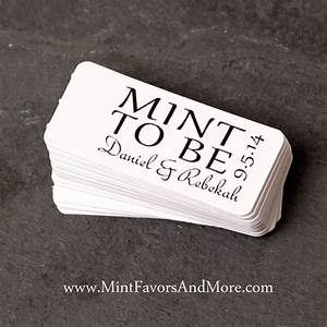 Mint to be favor tag wedding favor tags personalized tags for Small tags for wedding favors