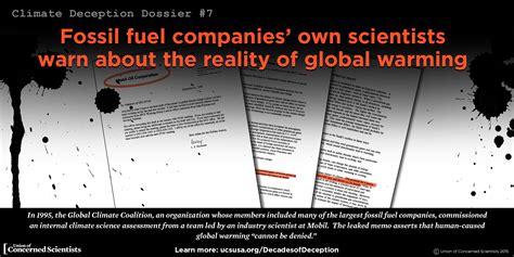 climate deception dossiers internal fossil fuel