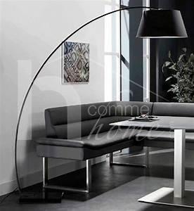 Lampadaire Salon Design : lampadaire arc design noir tomea zd1 lamp d ~ Preciouscoupons.com Idées de Décoration