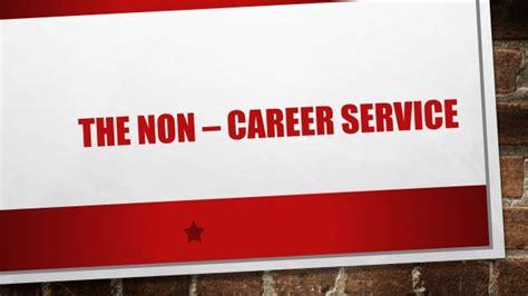 The Non Career Service