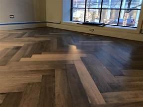 herringbone oak hardwood floor installation in chicago tom flooring hardwood