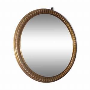 Miroir Rond Laiton : miroirs vintage d 39 occasion ~ Teatrodelosmanantiales.com Idées de Décoration