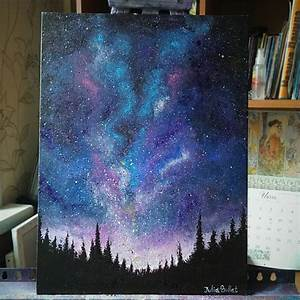 art dream stars artists on tumblr acrylic painting Night ...