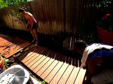 building  plank walkway video diy