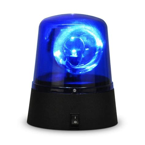 Blue Emergency Lights by Novelty Disco Battery Operated Rotating Blue Led