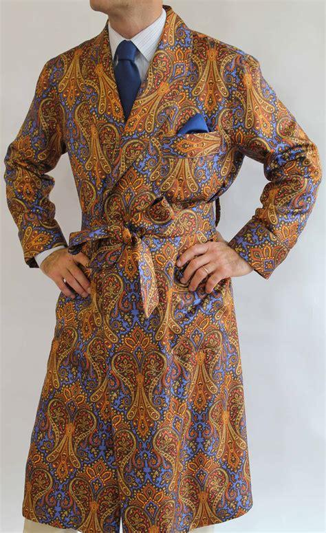 robe de chambre classique pour homme en 100 soie twill