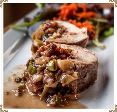 recette cuisine porc filets de porc à l 39 érable farcis aux poires et aux noix