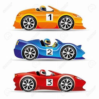 Race Clipart Cars Racing Vector Clip Cartoon