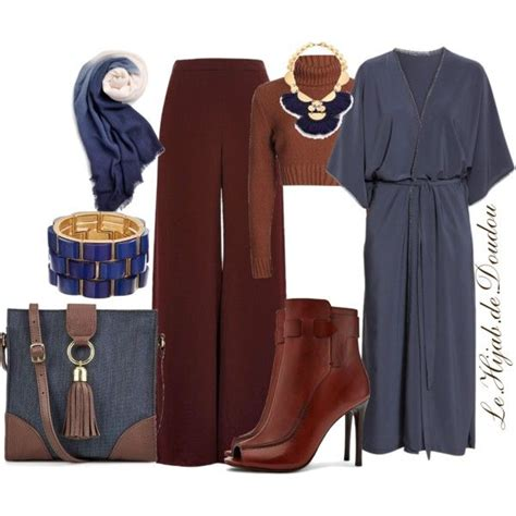 Hijab Outfit | Pantalons palazzo Idee tenue et Tenue