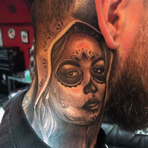 day   dead tattoos  men mexican holiday designs