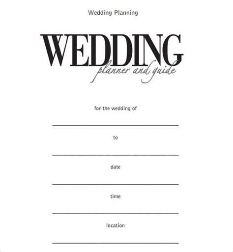 sample wedding timeline templates