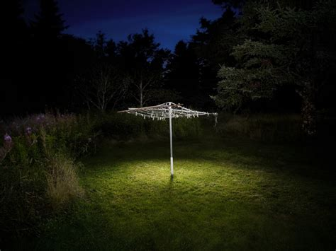 surreal landscapes lit with an led flashlight by