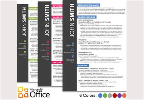 Creative Word Resume Template Free by Creative Resume Templates Obfuscata