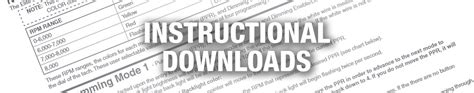 instructional downloads