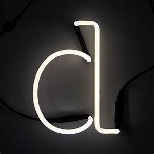 seletti neon wall light letter d iwoot With neon wall letters