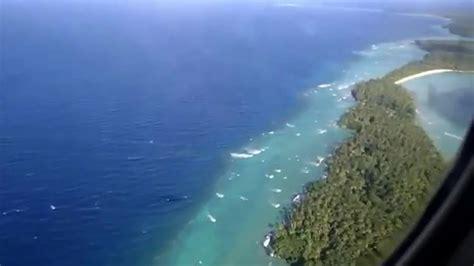 Landing to Airok airport, Ailinglaplap atoll in Republic ...