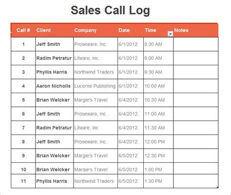 call log template excel 16 log templates free word excel pdf free premium templates