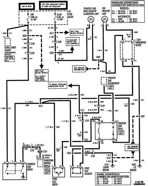 Wiring Diagram For 1995 Chevy Silverado by Where Is The Tranfer Relay On A 1995 Gmc K1500 I