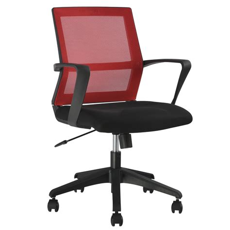 langria mid back mesh swivel task chair office chair