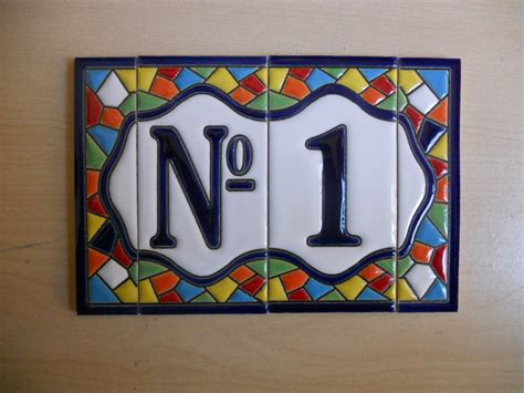 numbers and letters tiles 11 cm high 1 tile 2 frame borders