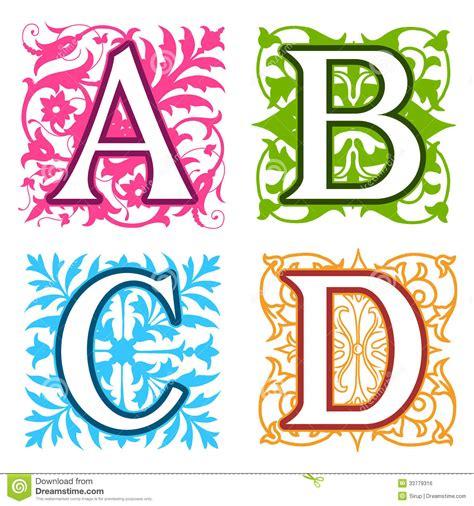 ninth letter of the alphabet stock photos images a b c d alphabet letters floral elements royalty free 27715
