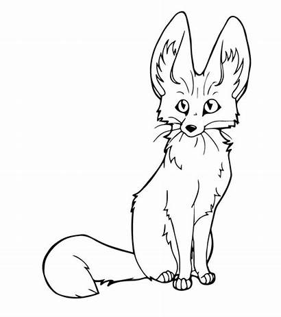 Fox Coloring Pages Fennec Printable Foxes Animal