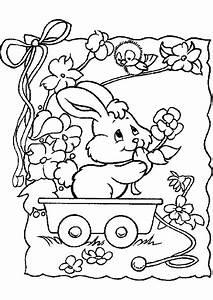 Coloriage De Paque : coloriage lapin jardin sur ~ Melissatoandfro.com Idées de Décoration