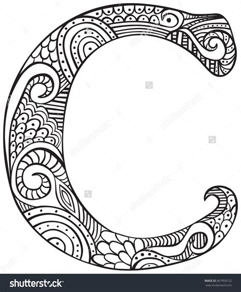 C Coloring Pages The Letter C Clipart Color Clipground