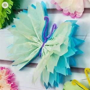 tissue paper butterflies paper craft diy