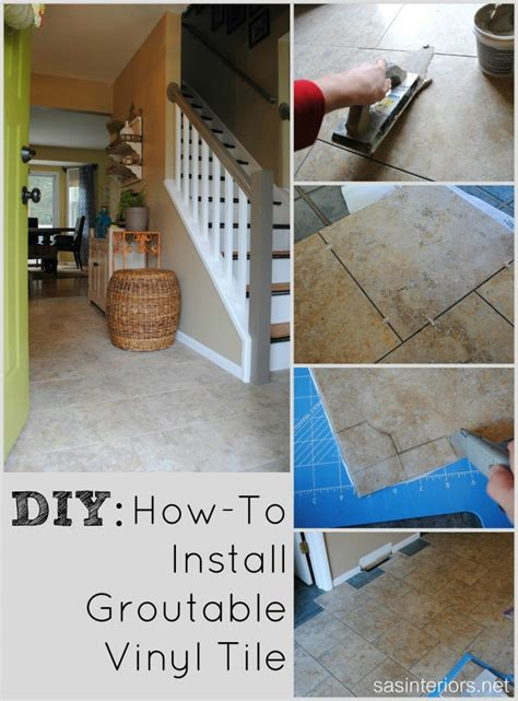 diy installing groutable luxury vinyl tile jenna burger