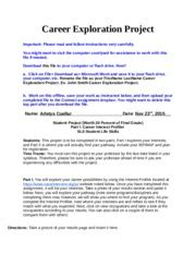 Mdc Optimal Resume by My Career Shines Sls1106 Career Exploration Project